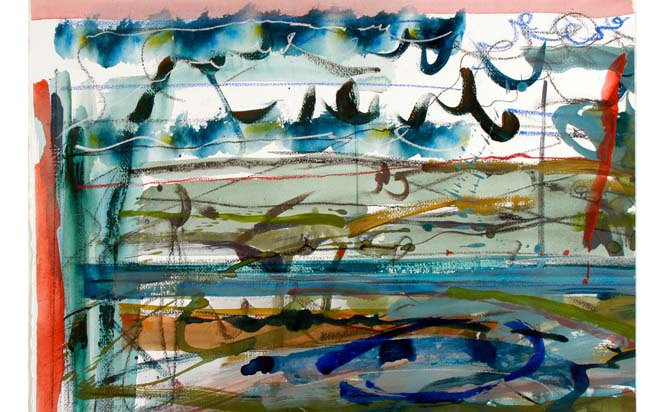 Study for Natura Naturata (acrylic, charcoal and pastel) 2007 Stanley Picker Gallery Collection
