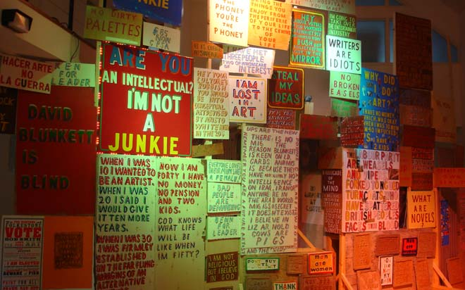 Bob and Roberta Smith 'Make your own Damn Art' (2005) installation view at Stanley Picker Gallery