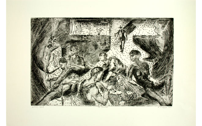 TV Dinner (etching) 2006 Stanley Picker Gallery Collection