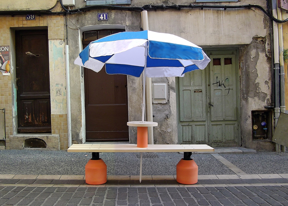 Image of Fabien Cappello's 2012 work Vallauris Bench 2012 for the Ceramics Biennale of Vallauris