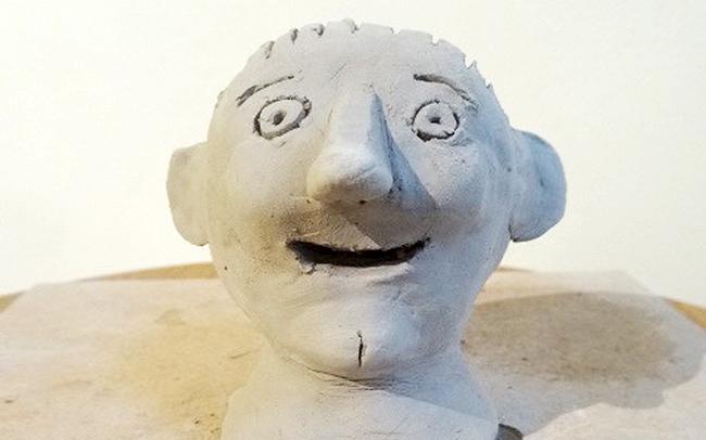 Jack Churchyard Leonard Dalton hand-sculpted clay head (2015)