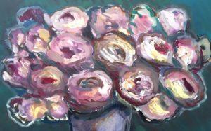Ansel Krut Roses (detail) 2016 oil on canvas. Courtesy the Artist