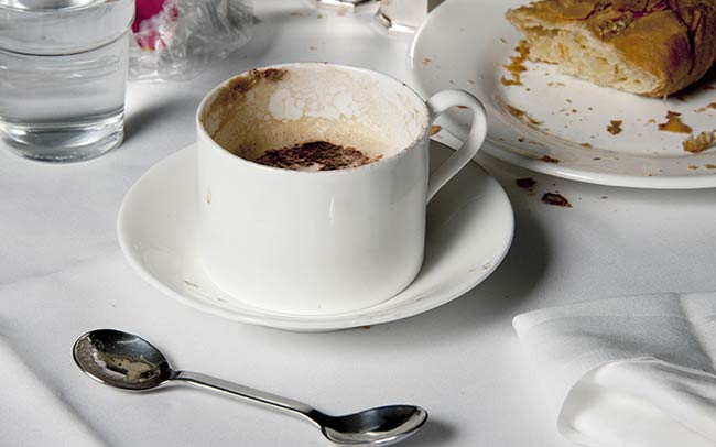 Cup of hot chocolate on a table