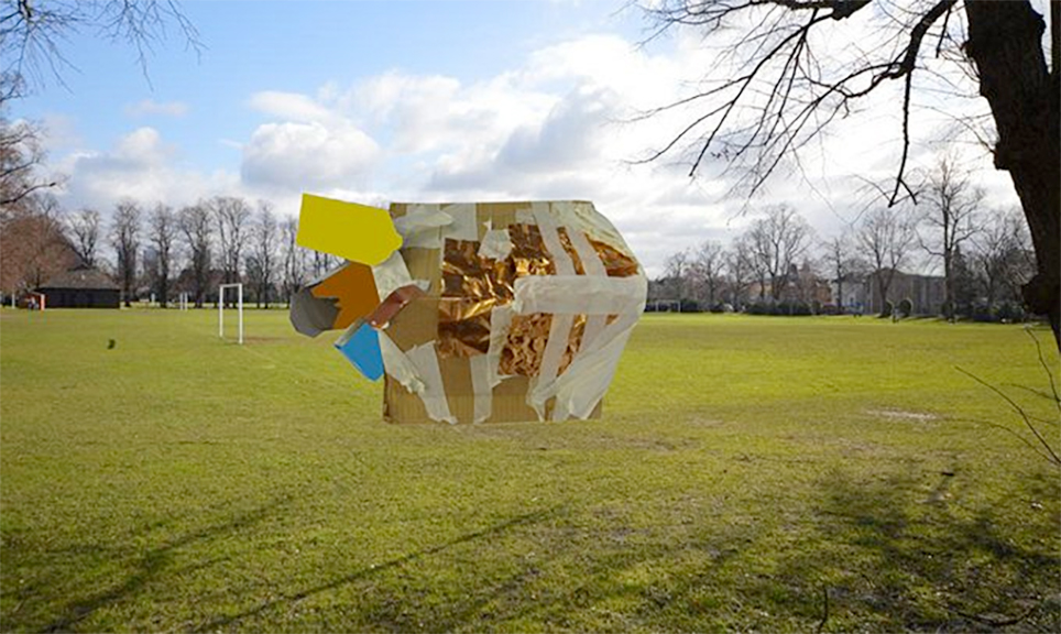 Mixed media proposal for new site-specific sculpture in an area of the borough
