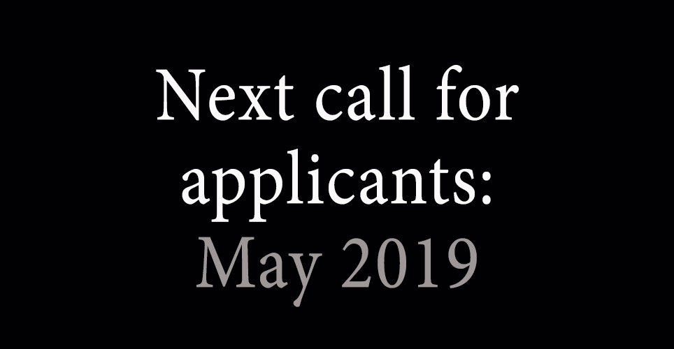 Next Call for Applicants: May 2019
