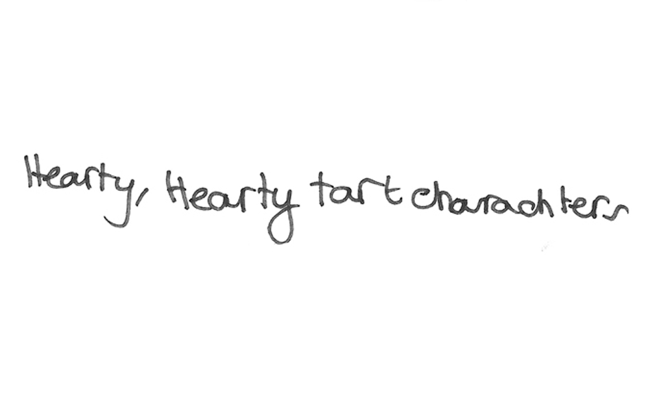 Hearted characters