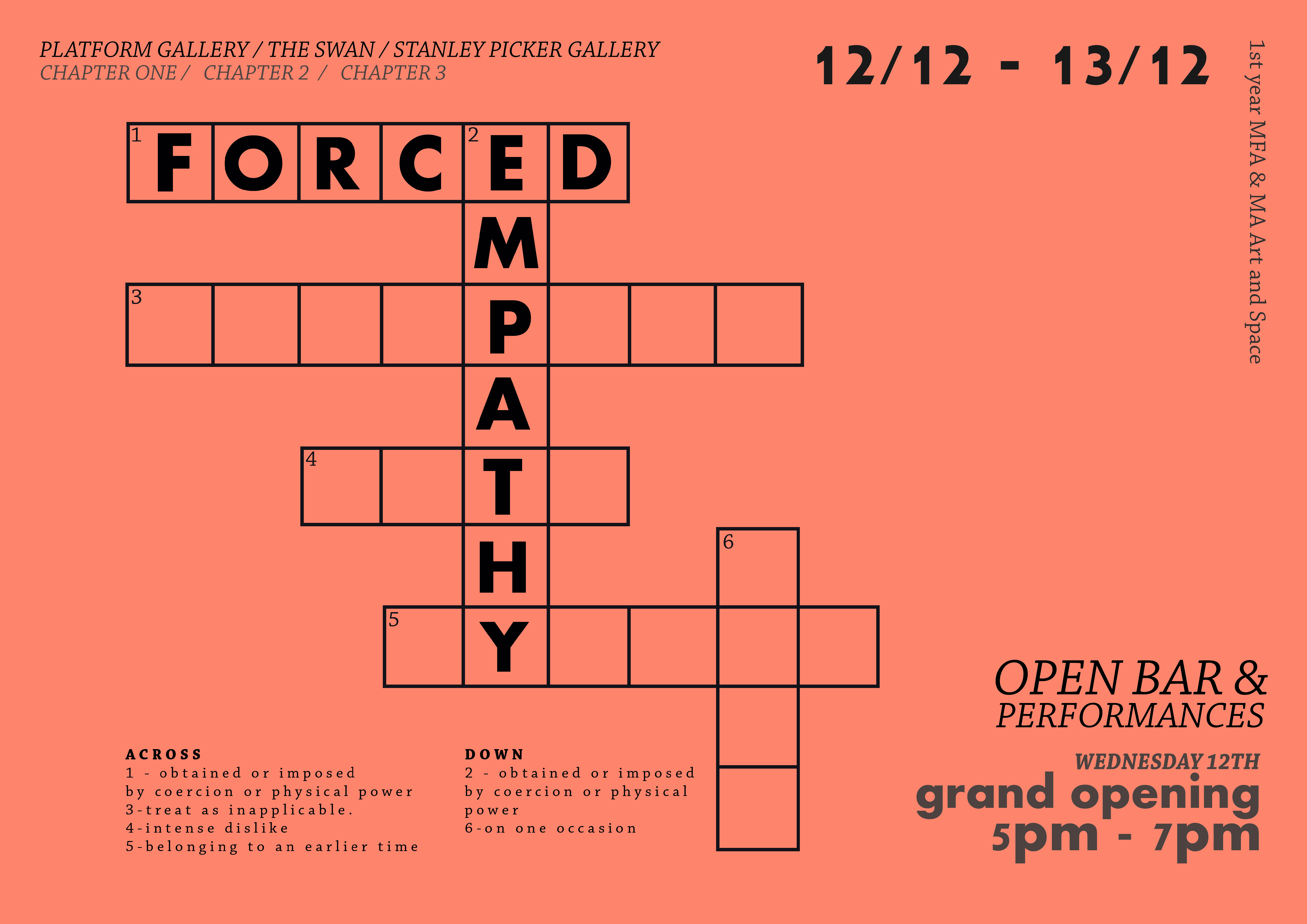 MFA & MA Art and Space: Forced Empathy